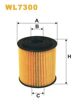 Фильтр масляный WL7300/672 (пр-во WIX-Filtron)                                                        арт. WL7300
