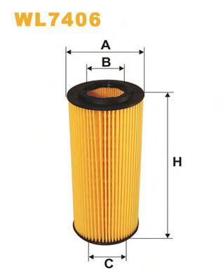 Фильтр масляный BMW 3 (E46/E90) /5 (E60/E61)/7 (E65-67) 2.5-3.5d  арт. WL7406