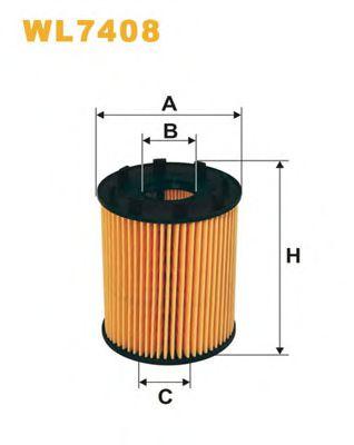 Фильтр масляный FIAT WL7408/OE670 (пр-во WIX-Filtron)                                                 арт. WL7408