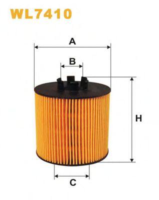 Фильтр масляный WL7410/OE650/2 (пр-во WIX-Filtron)                                                   HENGSTFILTER арт. WL7410
