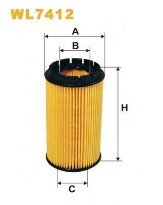 Фильтр масляный (OE 674)  арт. WL7412