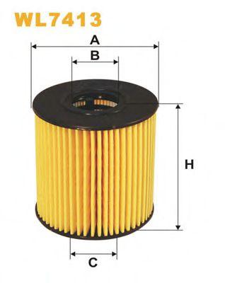 Фильтр масляный (OE 673)  арт. WL7413
