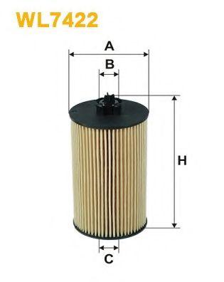 Фильтр масляный (OE 648/6)  арт. WL7422