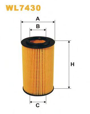 Фильтр масл. Honda Accord VIII (03-), CR-V II, FR-V (пр-во WIX-Filtron)                               арт. WL7430