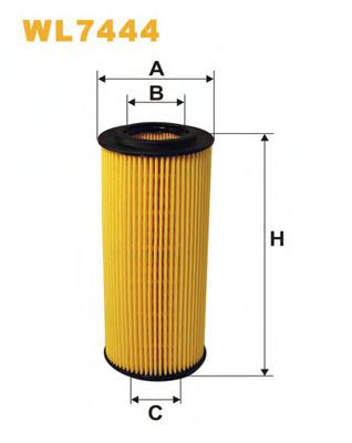 Фильтр масляный (OE 670/1)  арт. WL7444