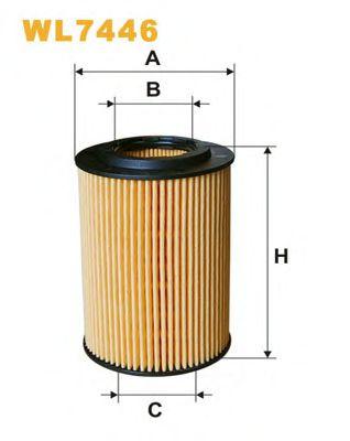 Фильтр масляный WL7446/ OE683/1 (пр-во WIX-Filtron)                                                   арт. WL7446