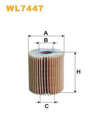Фильтр масляный WL7447/685 (пр-во WIX-Filtron)                                                       MANNFILTER арт. WL7447