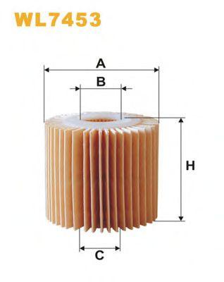Фильтр масляный WL7453/OE685/1 (пр-во WIX-Filtron)                                                   BOSCH арт. WL7453
