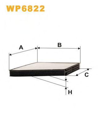 Фильтр салона (K 1011)  арт. WP6822