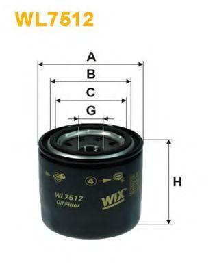 Фильтр масляный Hyundai; Kia (пр-во WIX-Filtron)                                                      арт. WL7512