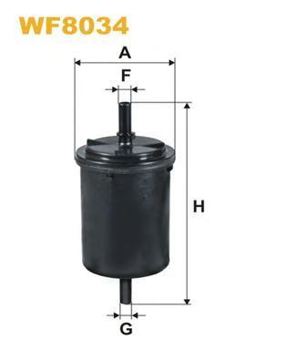 Фильтр топл. LOGAN WF8034/PP831/1 (пр-во WIX-Filtron)                                                 арт. WF8034