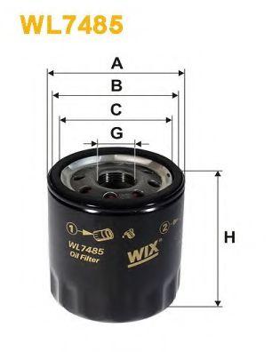 Фильтр масляный (OP 644/2)  арт. WL7485