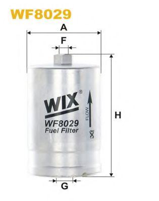 Фильтр топливный (PP 827)  арт. WF8029