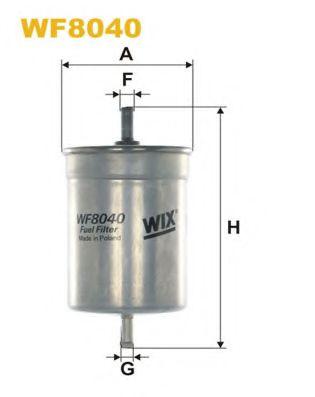 Фильтр топливный (PP 836)  арт. WF8040