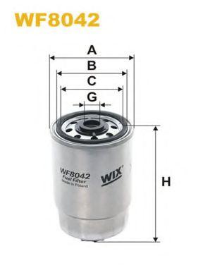 Фильтр топливный (PP 837)  арт. WF8042
