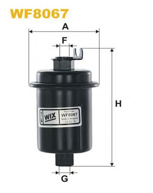 Фильтр топливный (PP 863)  арт. WF8067