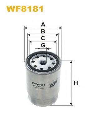 Фильтр топливный (PP 845/1)  арт. WF8181