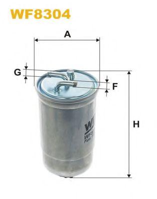 Фильтр топливный  арт. WF8304