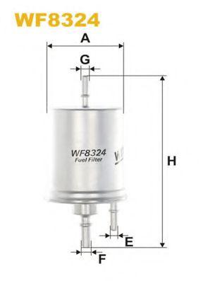 Фильтр топл. AUDI WF8324/ PP836/5 (пр-во WIX-Filtron)                                                MANNFILTER арт. WF8324