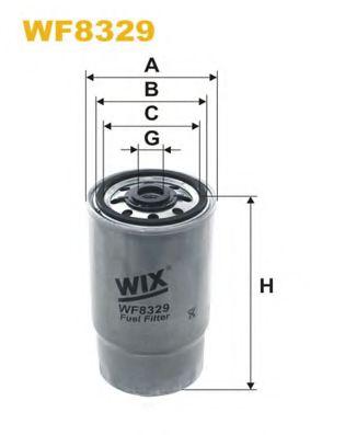 Фильтр топлива CITROEN JUMPER; FIAT DUCATO; PEUGEOT BOXER 2.0D/2.3D/2.8D 02.02- WIXFILTERS WF8329