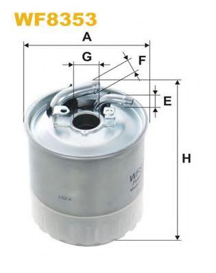 Фильтр топливный (PP 841/7)  арт. WF8353