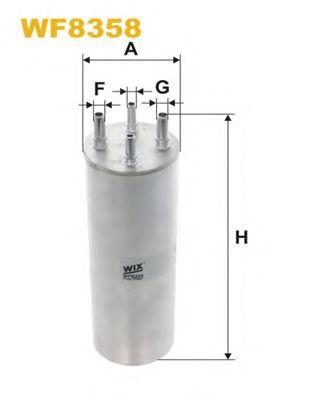 Фильтр топлива VW TOUAREG / TRANSPORTER T5 1.9 TDI/2.5 TDI WIXFILTERS WF8358