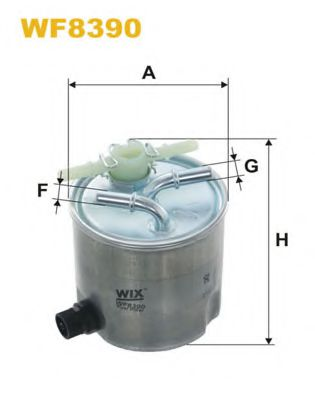 Фильтр топл. WF8390/980/5 (пр-во WIX-Filtron)                                                         арт. WF8390