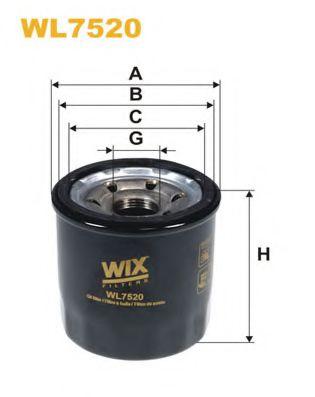 Фильтр масляный Hyundai i20, i20 II; Kia Picanto II, Rio III (пр-во Wix-Filtron)                      арт. WL7520