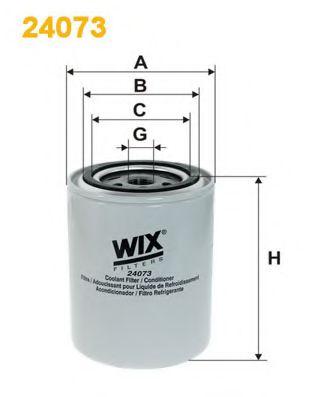 Фильтр системы охлаждения 24073/752 (пр-во WIX-Filtron)                                              WIXFILTERS арт. 24073