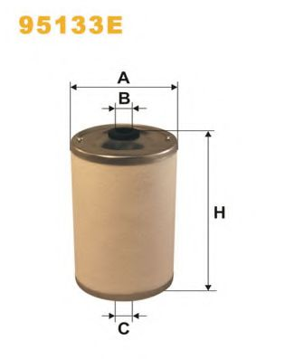 Фільтр палива DB (OM441 88-) MAN /2 шт. на машину войлок/ WIXFILTERS 95133E