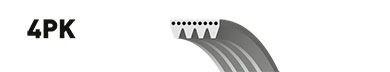 4PK855 (8653-10093)  Ремінь (поліклиновий) GATES MICRO-V HORIZON BOSCH арт. 4PK855
