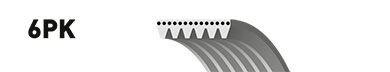 6PK2585 (8653-10506)  Ремінь (поліклиновий) GATES MICRO-V HORIZON CONTITECH арт. 6PK2585