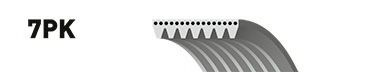 7PK1750 (8653-10566)  Ремінь (поліклиновий) GATES MICRO-V HORIZON CONTITECH арт. 7PK1750
