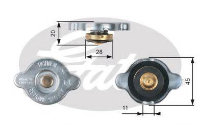 Крышка радиатора Gates  арт. RC133