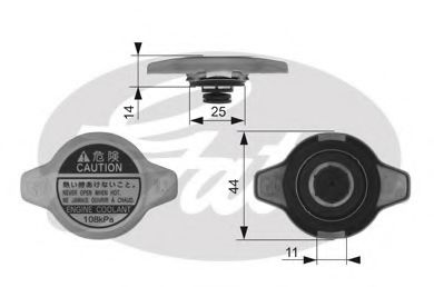 Крышка радиатора  арт. RC134