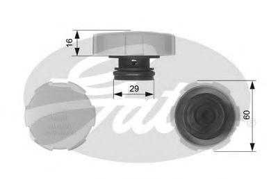 Крышка, резервуар охлаждающей жидкости  арт. RC231