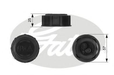 Крышка радиатора Gates  арт. RC233