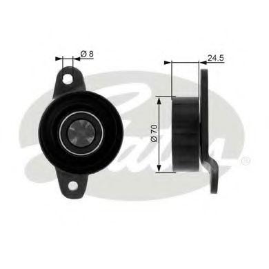 (70x10x25 пластик)Натяжний ролик Citroen/Peugeot XSara/Fiata/Peugeot 406 2.0 16v GATES T36036
