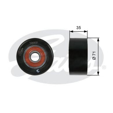 Паразитный / ведущий ролик, поликлиновой ремень GATES арт. T36417