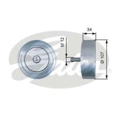 Паразитный / ведущий ролик, поликлиновой ремень GATES арт. T36515