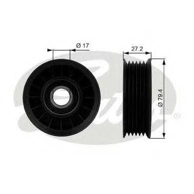 Паразитный / ведущий ролик, поликлиновой ремень GATES арт. T38009