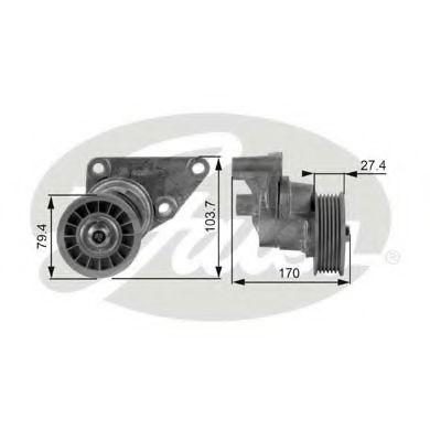 Натяжной ролик, поликлиновой  ремень GATES арт. T38158