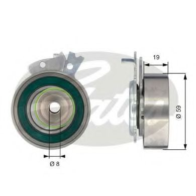 Фото - T43038 (7784-21031)  Натяжний ролик ременя ГРМ GATES POWERGRIP TENSIONER GATES - T43038