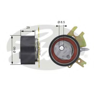 T43089 (7784-21082)  Натяжний ролик ременя ГРМ GATES POWERGRIP TENSIONER GATES арт. T43089