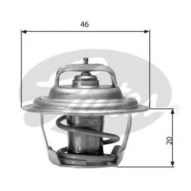 Термостат, охлаждающая жидкость  арт. TH02791G1