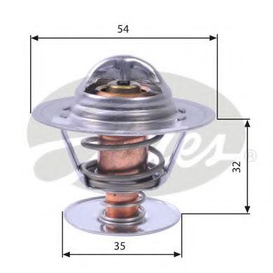 Термостат, охлаждающая жидкость GATES TH11292G1