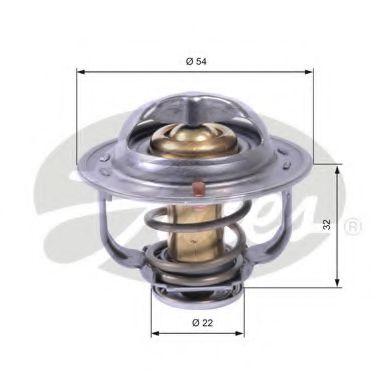 Термостат, охлаждающая жидкость GATES TH42589G1