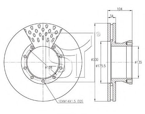 Тормозной диск TEMPLIN 031100922020