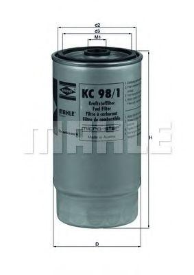 Фильтры топливные KC98/1     (KNECHT) BOSCH арт. KC981
