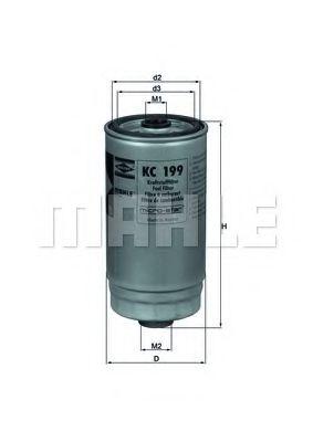 Фильтр топливный HYUNDAI ELANTRA, SANTA FE I 2.0 CRDi (пр-во Knecht-Mahle)                            арт. KC199